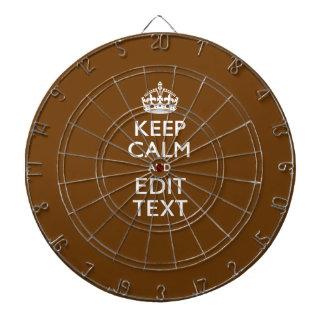 Håll lugn och ha din text på brunt piltavla
