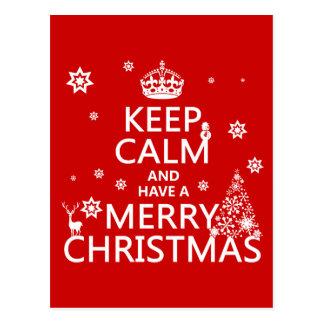 Håll lugn och ha god jul (ändringsfärg vykort