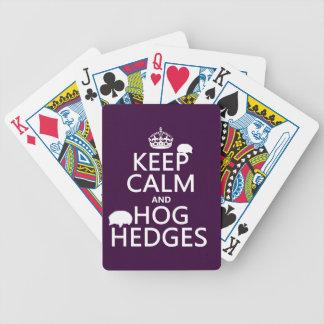 Håll lugn och Hog häckar (igelkottar) (alla färger Spelkort