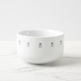 Håll lugn och jama på mugg för soppa