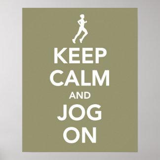Håll lugn och jogga på affischen poster