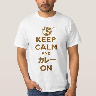 Håll lugn och Kare (カレー) på (tända), Tee Shirts