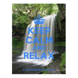 Håll lugn och koppla av vykort