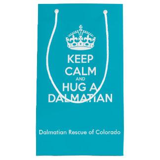 Håll lugn och krama en Dalmatian gåva hänger lös