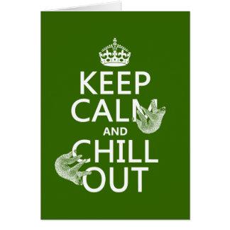 Håll lugn och kyla ut (slothen) (någon färg) hälsningskort