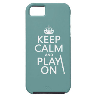 Håll lugn och leka på (oboe) (någon färg) iPhone 5 fodral