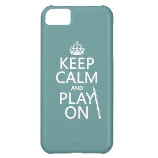Håll lugn och leka på (oboe) (någon färg) iPhone 5C fodral
