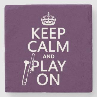 Håll lugn och leka på (trombonen) (någon färg) stenunderlägg