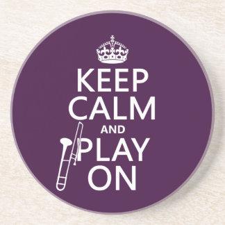 Håll lugn och leka på (trombonen) (någon färg) underlägg
