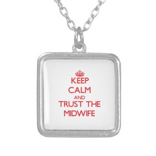 Håll lugn och lita på barnmorskan anpassningsbara smycken