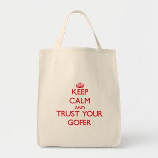 Håll lugn och lita på din Gofer Mat Tygkasse