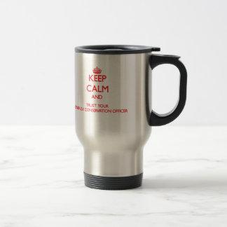 Håll lugn och lita på ditt energibeskydd Offic Kaffe Muggar