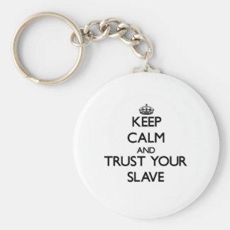 Håll lugn och lita på ditt slav- rund nyckelring