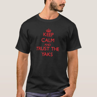 Håll lugn och lita på yaksna tröja