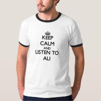 Håll lugn och lyssna till Ali Tröjor