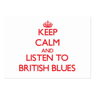 Håll lugn och lyssna till BRITTISK DEPPIGHET
