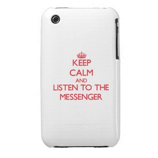 Håll lugn och lyssna till budbärare iPhone 3 covers