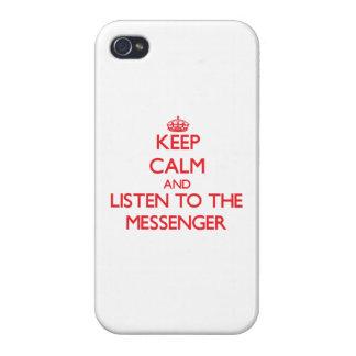 Håll lugn och lyssna till budbärare iPhone 4 skal