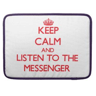 Håll lugn och lyssna till budbärare MacBook pro sleeve