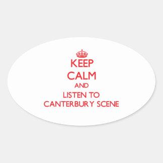 Håll lugn och lyssna till den CANTERBURY PLATSEN
