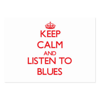Håll lugn och lyssna till DEPPIGHET Set Av Breda Visitkort