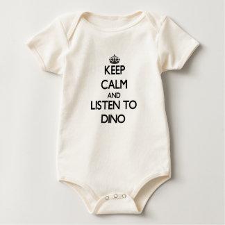 Håll lugn och lyssna till Dino Krypdräkt