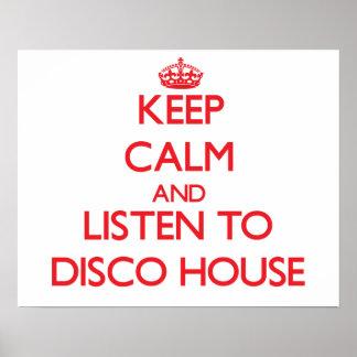 Håll lugn och lyssna till DISKOHUSET Affisch