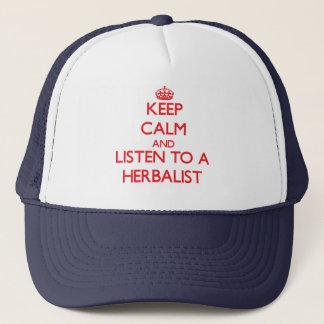 Håll lugn och lyssna till en Herbalist Keps