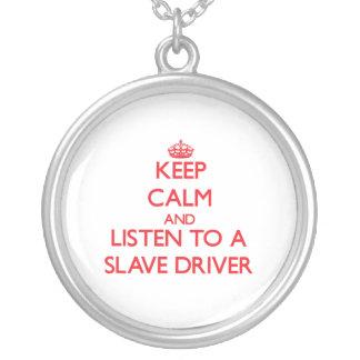 Håll lugn och lyssna till en slav- chaufför skräddarsydda halsband