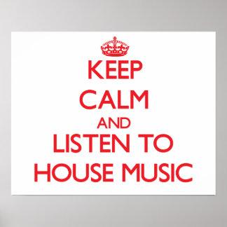 Håll lugn och lyssna till HUSMUSIK Poster