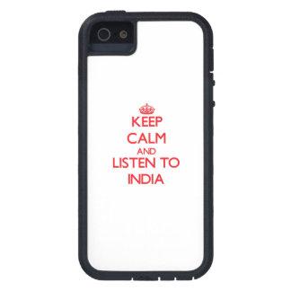 Håll lugn och lyssna till Indien iPhone 5 Case-Mate Skal