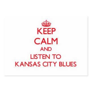 Håll lugn och lyssna till KANSAS CITY DEPPIGHET Set Av Breda Visitkort