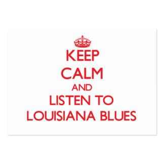 Håll lugn och lyssna till LOUISIANA DEPPIGHET Set Av Breda Visitkort