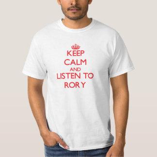 Håll lugn och lyssna till Rory Tee