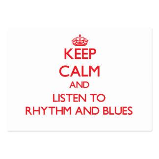 Håll lugn och lyssna till RYTM OCH DEPPIGHET Set Av Breda Visitkort