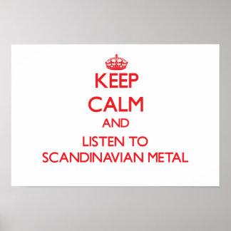 Håll lugn och lyssna till SKANDINAVISK METALL Posters