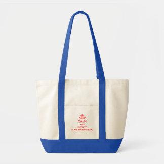 Håll lugn och lyssna till SKANDINAVISK METALL Tote Bag
