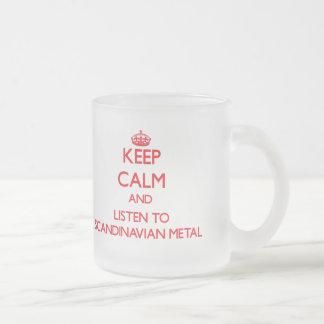 Håll lugn och lyssna till SKANDINAVISK METALL Kaffe Koppar