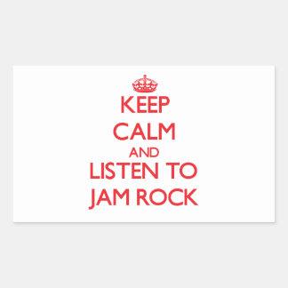 Håll lugn och lyssna till SYLTSTEN Retangel Klistermärke