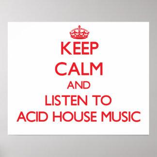 Håll lugn och lyssna till SYRLIG HUSMUSIK Affischer