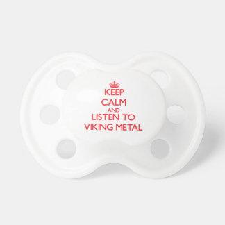 Håll lugn och lyssna till VIKING METALL Napp