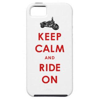 Håll lugn och rida på fodral för iphone 5 iPhone 5 Case-Mate skydd