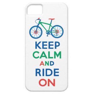 Håll lugn och rida på mång- iPhone 5 iPhone 5 Cover