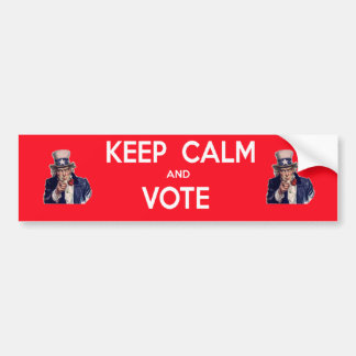 Håll lugn och rösta bildekal