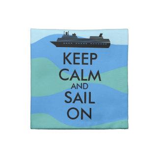Håll lugn och segla på tygservett