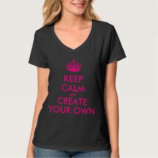 Håll lugn och skapa ditt eget - rosor tee shirt