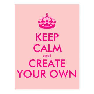 Håll lugn och skapa ditt eget - rosor vykort