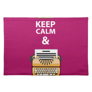 Håll lugn och skriv ditt skrivar vektorn bordstablett