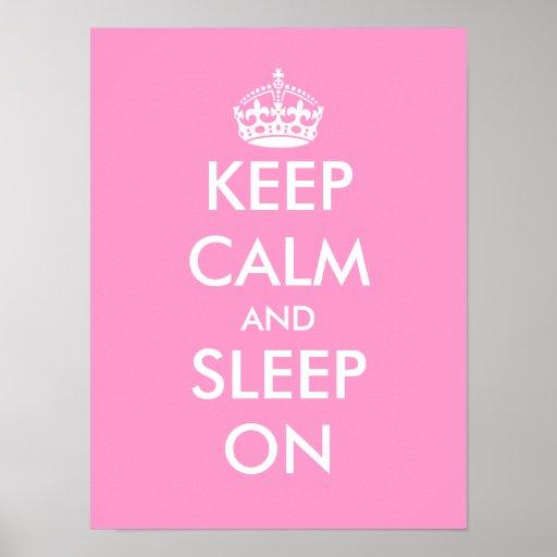 Håll lugn och sova på affischen för rum för den |  affischer