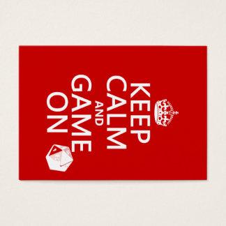 Håll lugn och spela på - tärning - alla färger visitkort